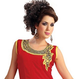 Brightened Lushness Pure Georgette Kurti