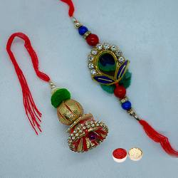 Fancy Bhaiya Bhabhi Rakhi Set with Blissful Love