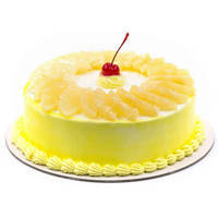 Appetizing Pineapple Cake from Taj or 5 star Hotel bakery to Gandhinagar