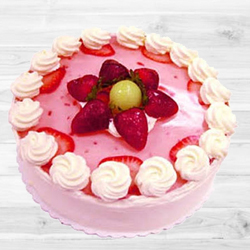Tempting Strawberry Cake to Indalavadi