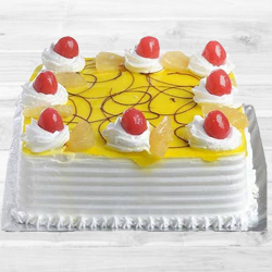 Precious Eggless Pineapple Cake to Gandhi Nagar