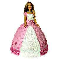 Charming Barbie Cake to Gandhinagar
