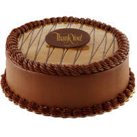 Tempting fresh Chocolate flavor Eggless Cake to Circle
