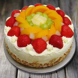 Confectionery Bliss 1 Kg Eggless Fresh Fruit Cake