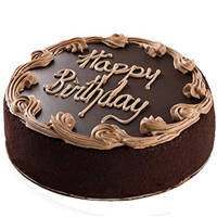Bedizened Warmth 1 Lb Birthday Fresh Chocolate Cake from 3/4 Star Bakery