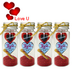 Recollection of Memories 4 Pcs. Message Bottles