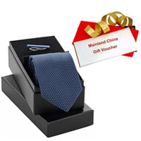 Classic Selection of Mainland China Gift Voucher worth Rs.1000 and Tie  N  Tiepin Gift Set