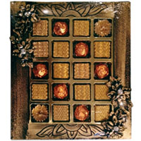 Delightful Fusion of Assorted Hand-made Chocolates with Diya Candles