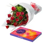 Petite Selection of Roses and Chocolates to RT Nagar