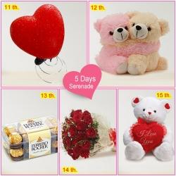 5 Day Surprise Serenade  Continue Surprising your Valentine on 15th too !