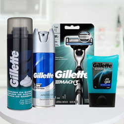 Refreshing Gillette shaving pack