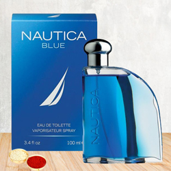 Everlasting Fragrance of Nautica Blue EDT for Men with free Roli Tilak and Chawal