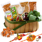 Delectation's Choice Dry Fruits Assortment with Two Rakhis and Roli Tilak Chawal