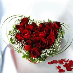Ornamental Heartiest Touch of Red Roses Bouquet