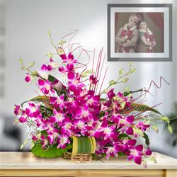 Exotic 10 Stunning Orchids in a Beautiful Arrangement to Mathikere