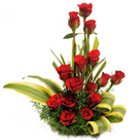 Luminous Forever in Love 15 Red Roses in a Basket