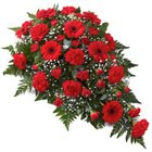 Flat Arrangement of 24 Red Flowers to Extn Iistage