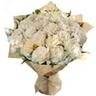 Alluring Hearth-Side Bouquet of White Carnations