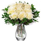 Glorious Vase of White Roses
