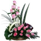 Passionate Be Mine Forever Premium Arrangement of Pink Roses