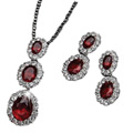 Hinged Pendant Set with Earrings Presented by Avon