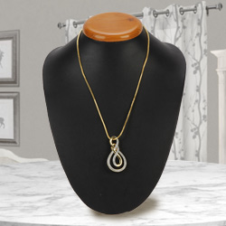 Attractive Ayla Double Knot Necklace with Gold Plated Chain