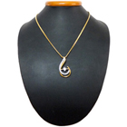 Heart-Fondling Allure Gold Plated Necklace with Teresa Pendant<br>