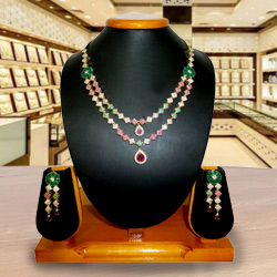 Jazzy Bedeck Necklace with Earrings Set
