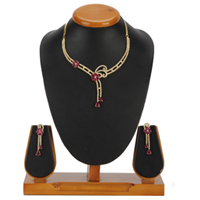 Decorative Glister Necklace with Earrings Set