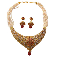 Trendy Wedding Special Earring N Necklace Set