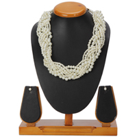 Spectacular Pearl Plait Necklace and Earrings Set from the House of Avon