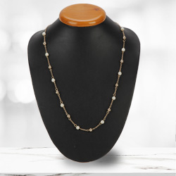 Astounding Gold Plated Pearl Necklace from the House of Avon