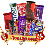 Personifying Best Wishes Rakhi Hamper