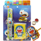 Spectacular Doraemon Rakhi Gift of Digital Watch and Purse for Kids