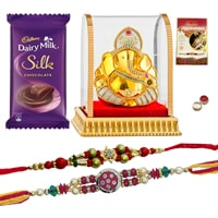 Ganesh with Rakhi n Chocolate