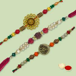 Breathtaking Ethnic Rakhi Thread with Love