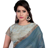 Snazzy Symmetry Grey Super Coting Saree