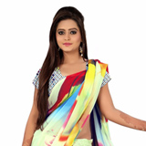 Exclusive Multicoloured Georgette Saree with Digital Printed Design
