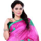 Popular Collection of Printed Crepe Saree in Pink Colour