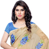 Comely Glow Faux Georgette Saree