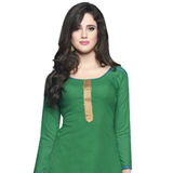 Enticing Cotton Printed Patiala Suit in Deep Green