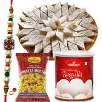 Free  Rakh, Roli tika and Chawal along with  <font color=#FF0000>Haldiram</font> special sweet pack