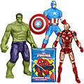 Smashing Marvel Avengers Assemble Figurine Set with Spider Man Surprise Bag for Little Boys