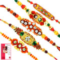 Amazing Combo of Rakhis with Rakhi Card