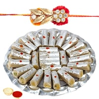 Rakhi with Kaju Roll