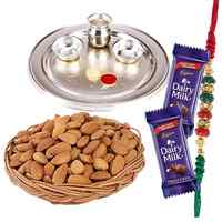 Illuminating Rakhi Thali Gift Set