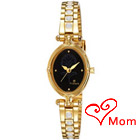 Black dial golden ladies watch from Titan