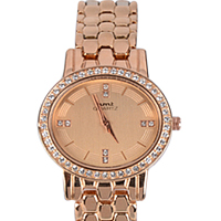 Glamorous Display of Stone Studded Rose Gold Watch Watch for Women
