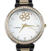 An Exquisite Collection of Black & Gold Stone Studded Womens Watch