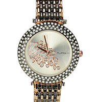 A Glamorous Womens Watch adorned with Numerous Stones